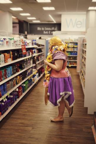 She needed hairspray. OF COURSE RAPUNZEL NEEDED HAIR PRODUCTS.